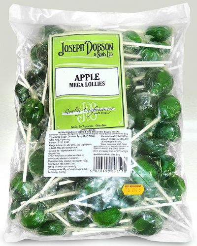 DOB28 DOBSONS WRAPPED APPLE MEGA LOLLIES x80